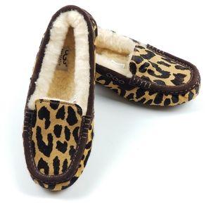 Rare New Ugg Ansley Leopard Cheetah Print Mocassin